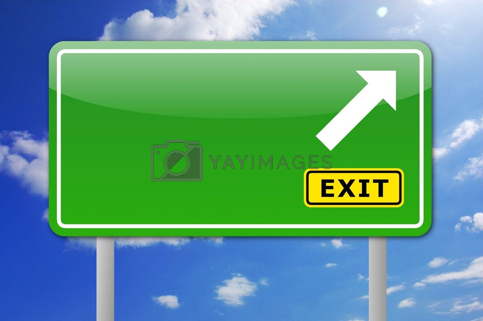 blank road sign with copyspace for a text message