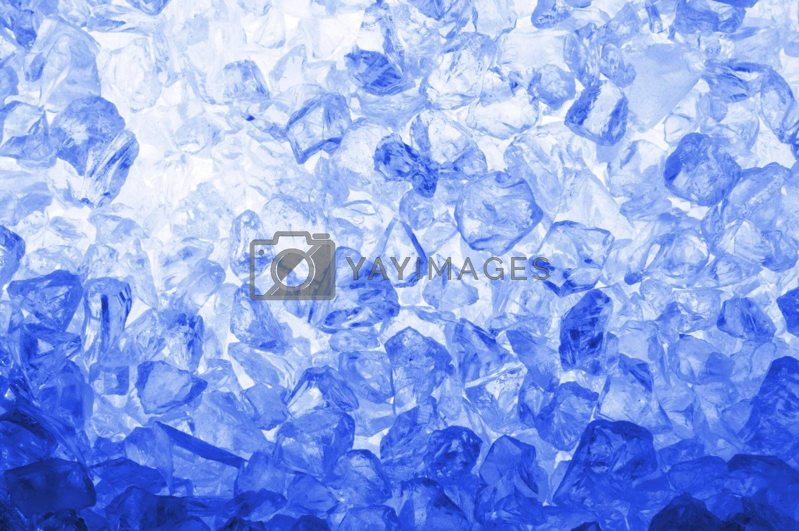 cool ice background or texture in blue with copyspace