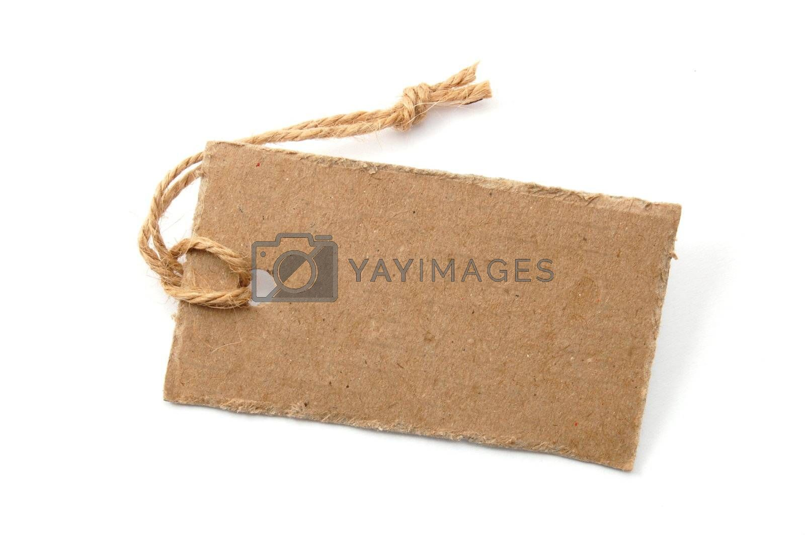 blank price tag isolated on a white background