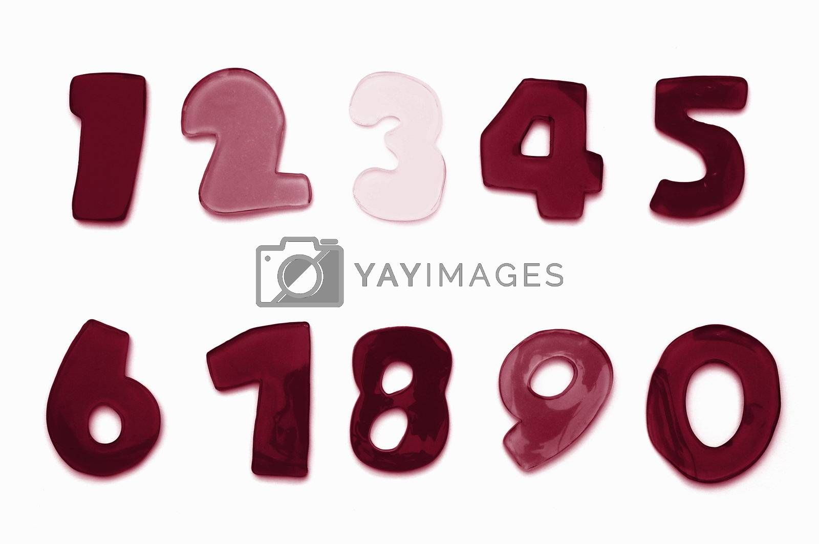 alphabet from A to Z and numbers form 0 to 9 can be used as font