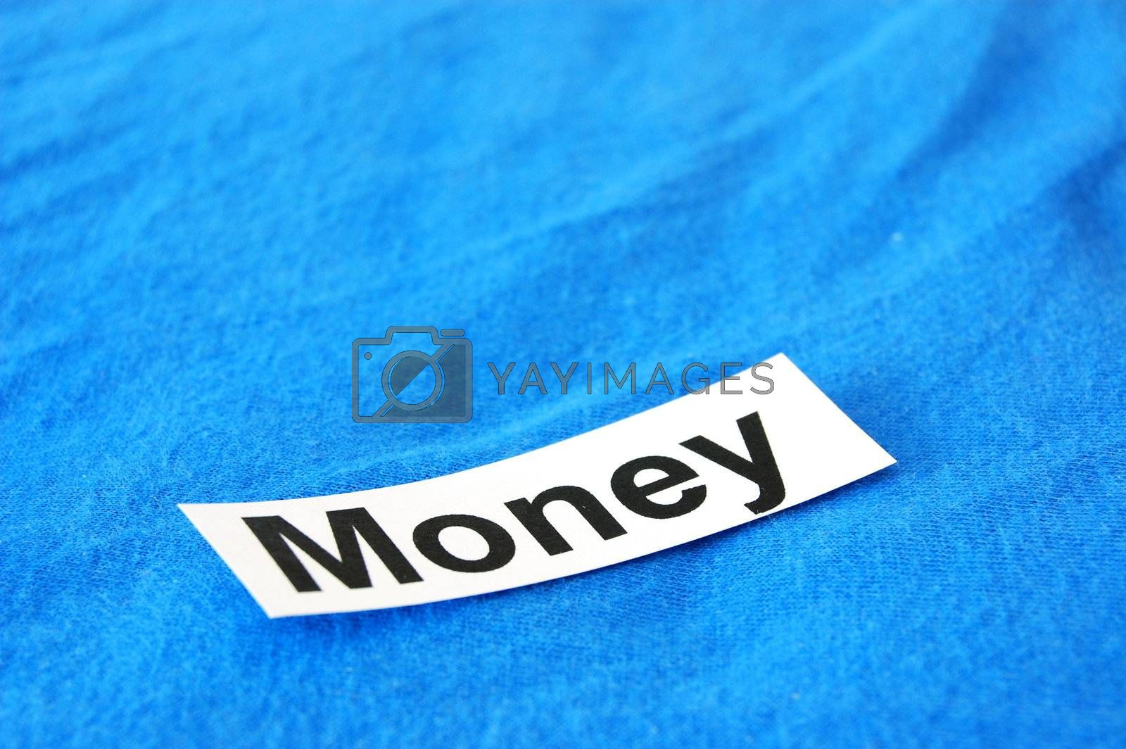 word money on sheet of paper showing success concept