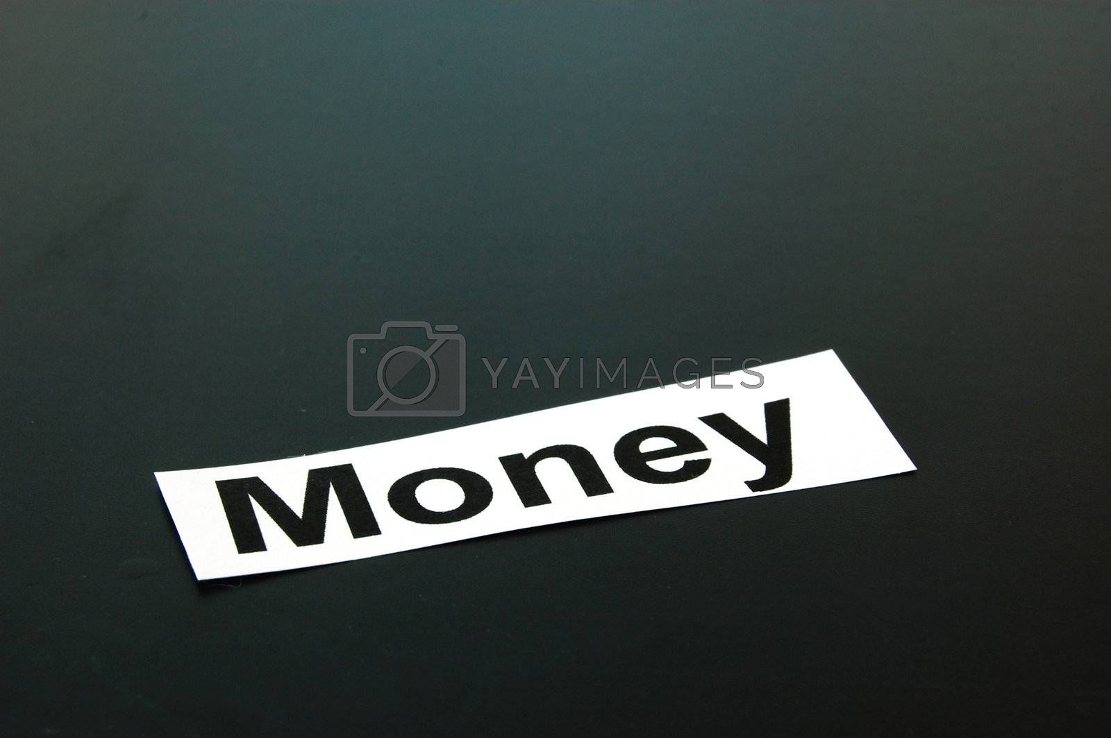 money concept with copyspace for text message