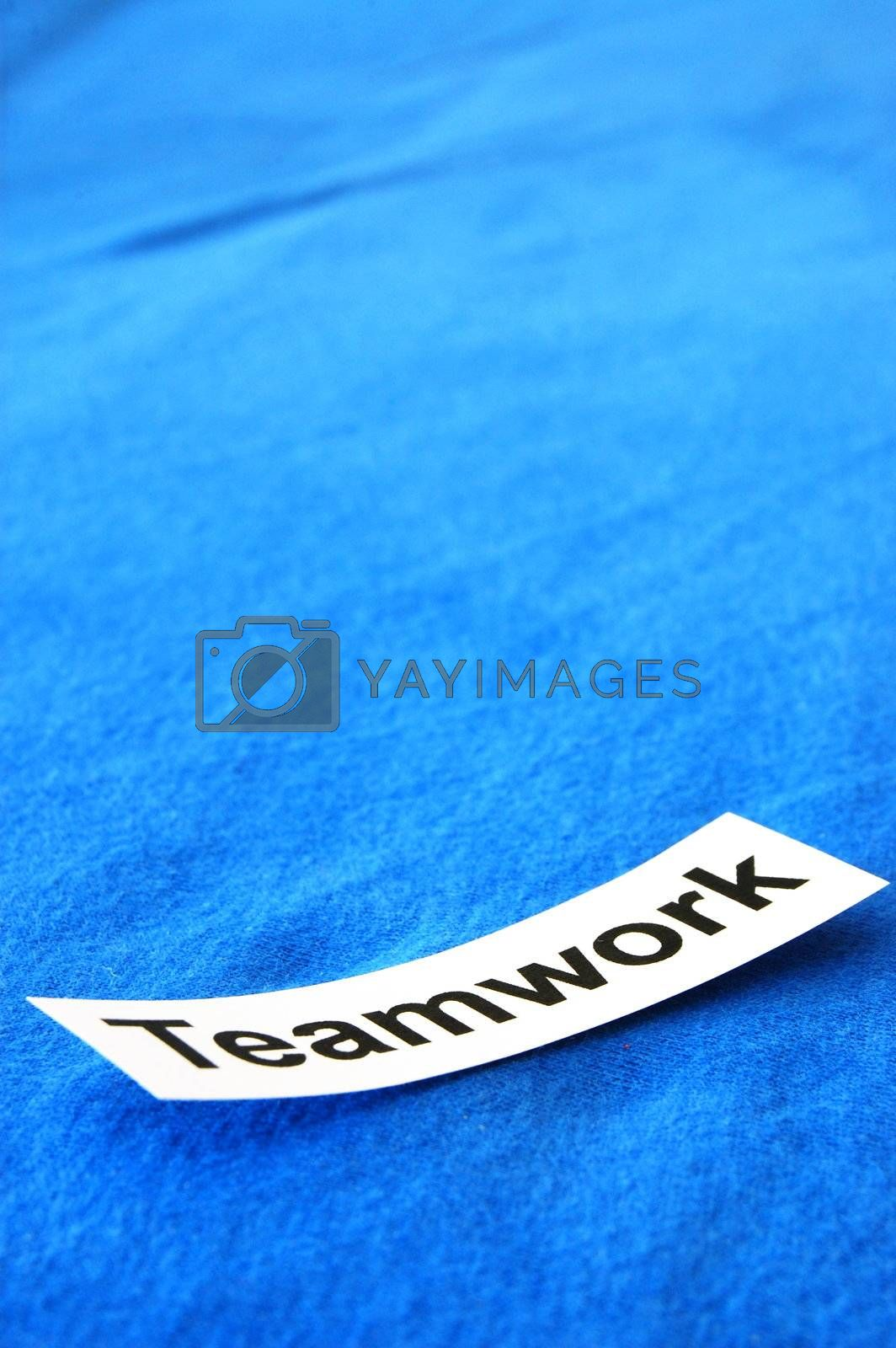 team or teamwork concept with blank space for text