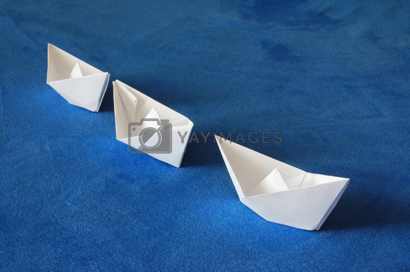 paper ship showing concept of global economy and globalisation