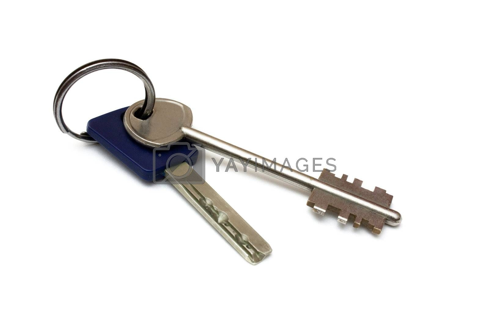 Two keys isolated on white