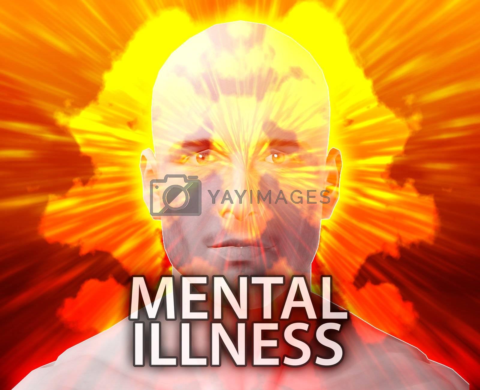Male psychiatric treatment mental illness rorschach inkblot concept