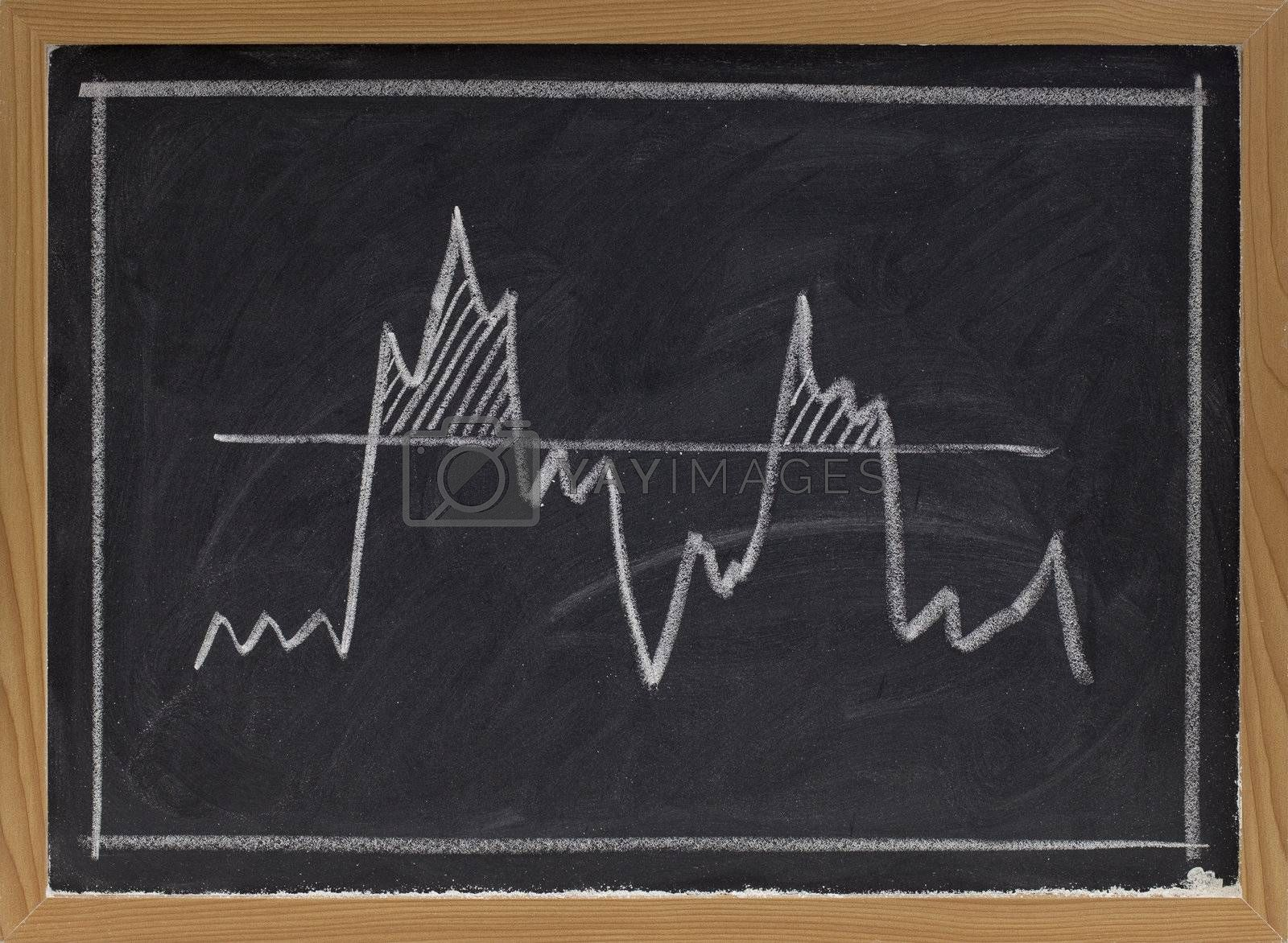 threshold concept on blackboard by PixelsAway