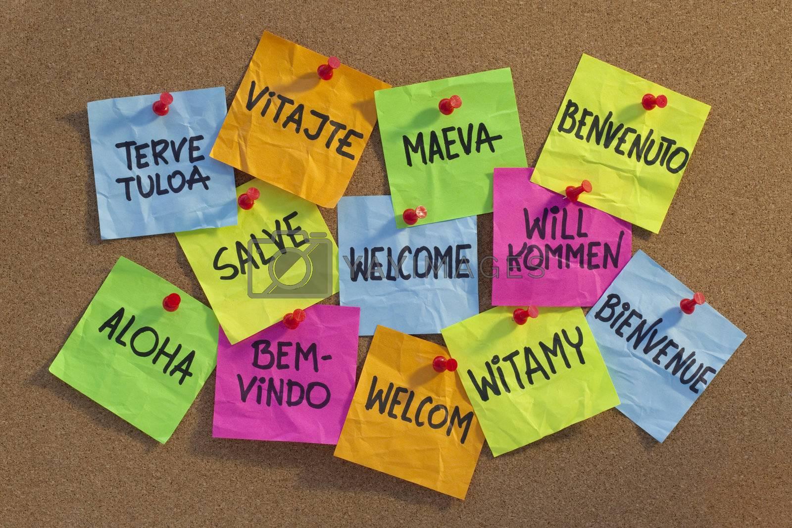 welcome, willkommen, bienvenue, aloha, ... by PixelsAway