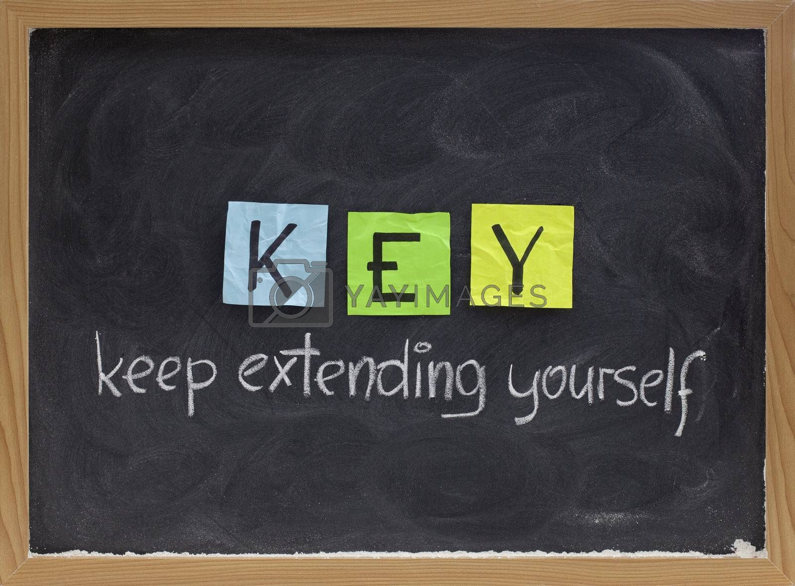 keep extending yourself - motivation acronym by PixelsAway