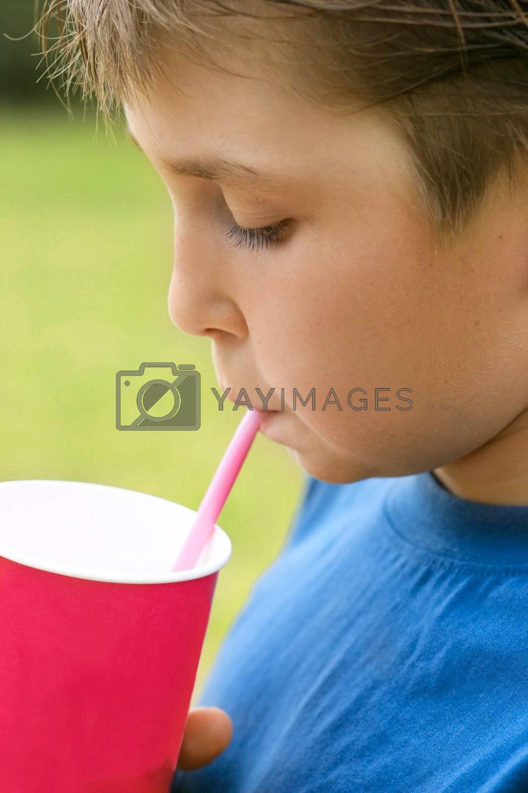 Drinking a milkshake by lovleah
