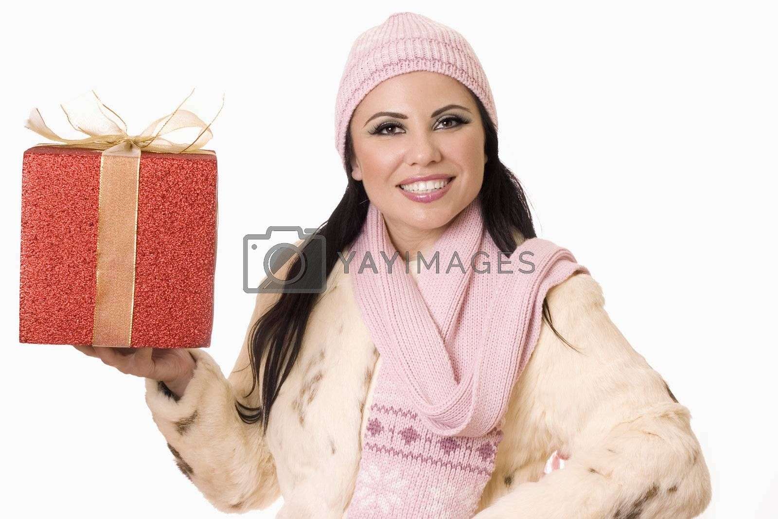 Pretty Woman with Gift (or your product) by lovleah