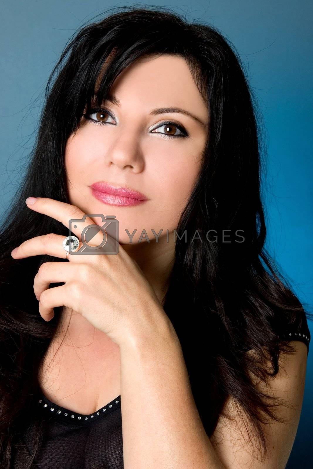 beautiful woman thinking by lovleah