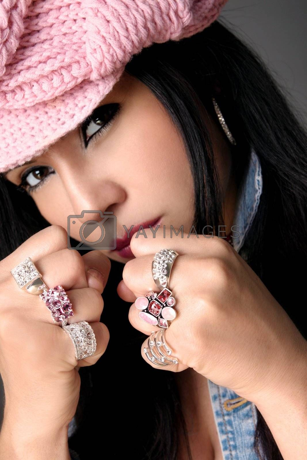 Fistful of Bejewelled rings by lovleah