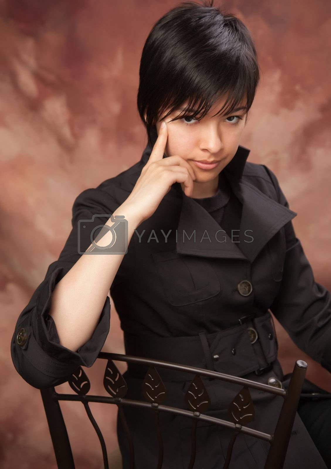 Multiethnic Girl Poses for Portrait by Feverpitched