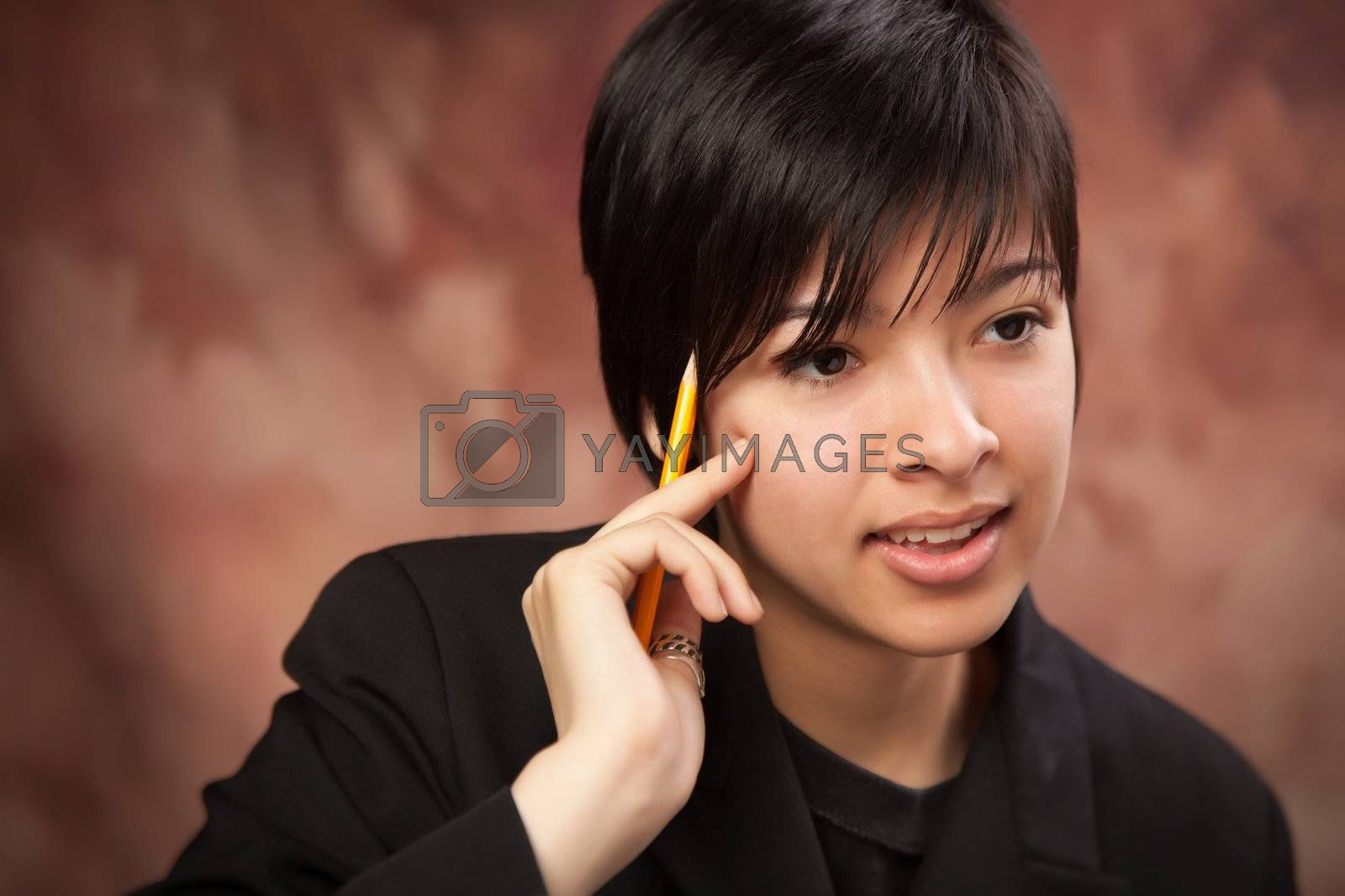 Multiethnic Girl Talking During Portrait. by Feverpitched