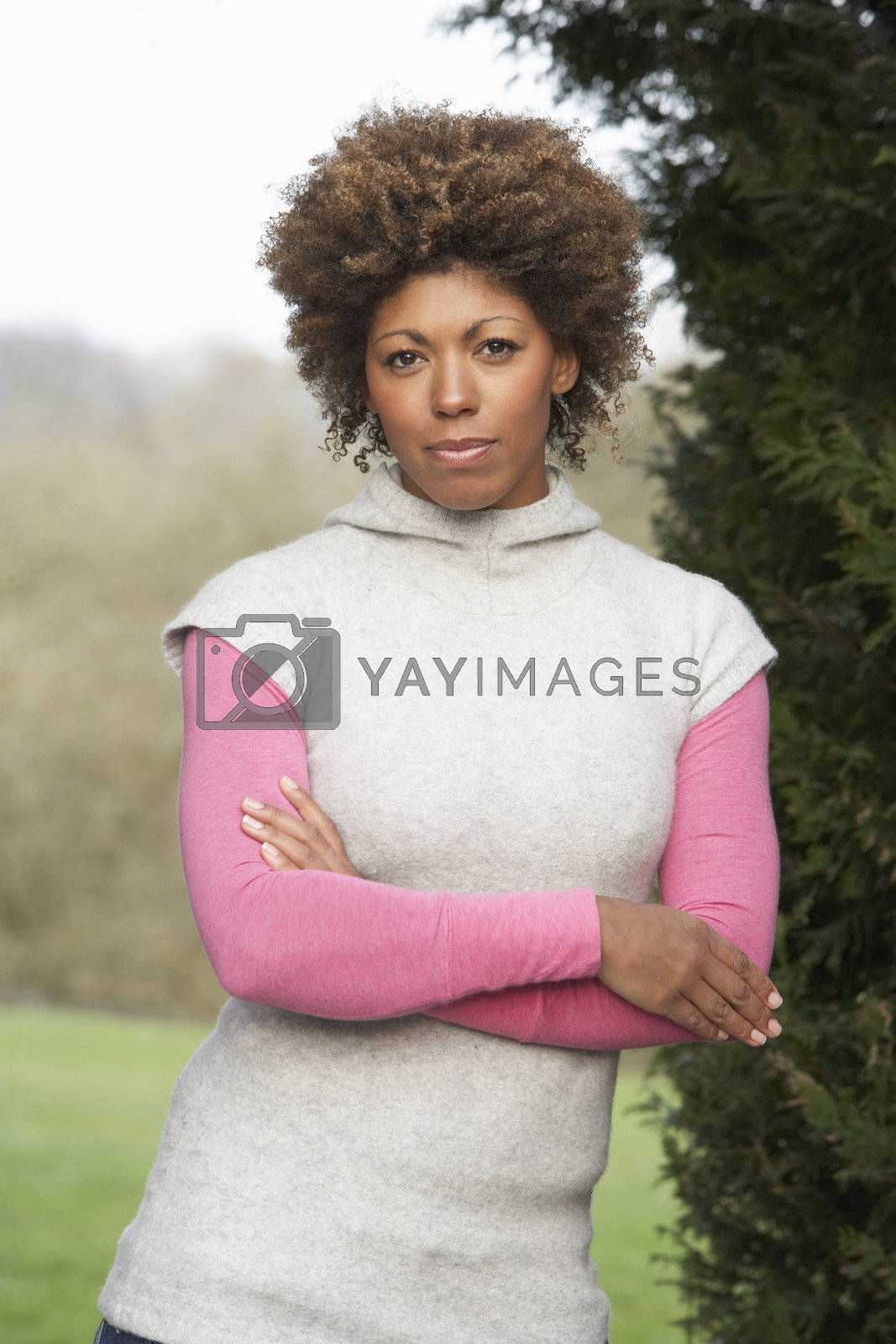 Royalty free image of Portrait Of Beautiful Woman In Garden by omg_images