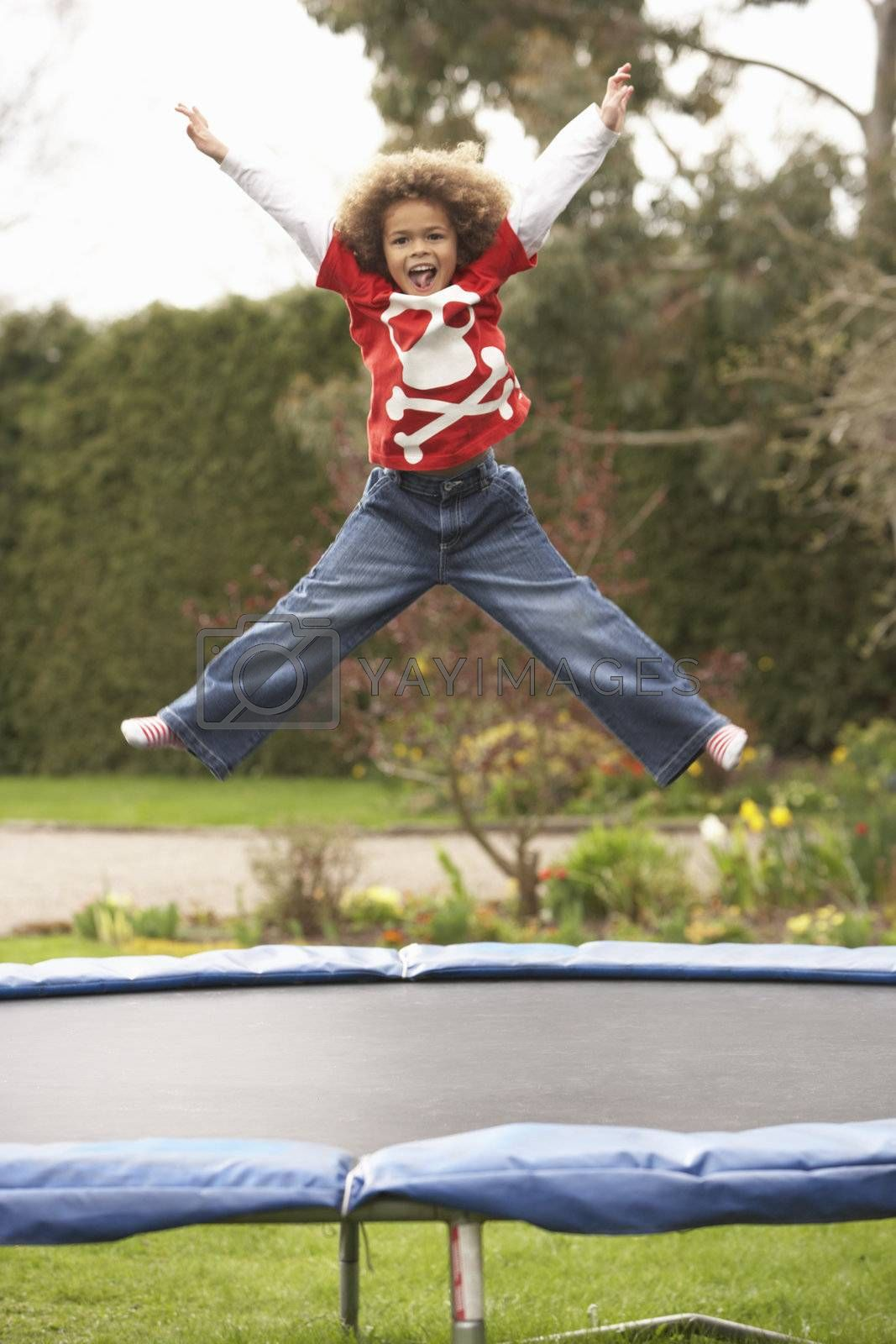 Royalty free image of Boy Playing On Trampoline by omg_images