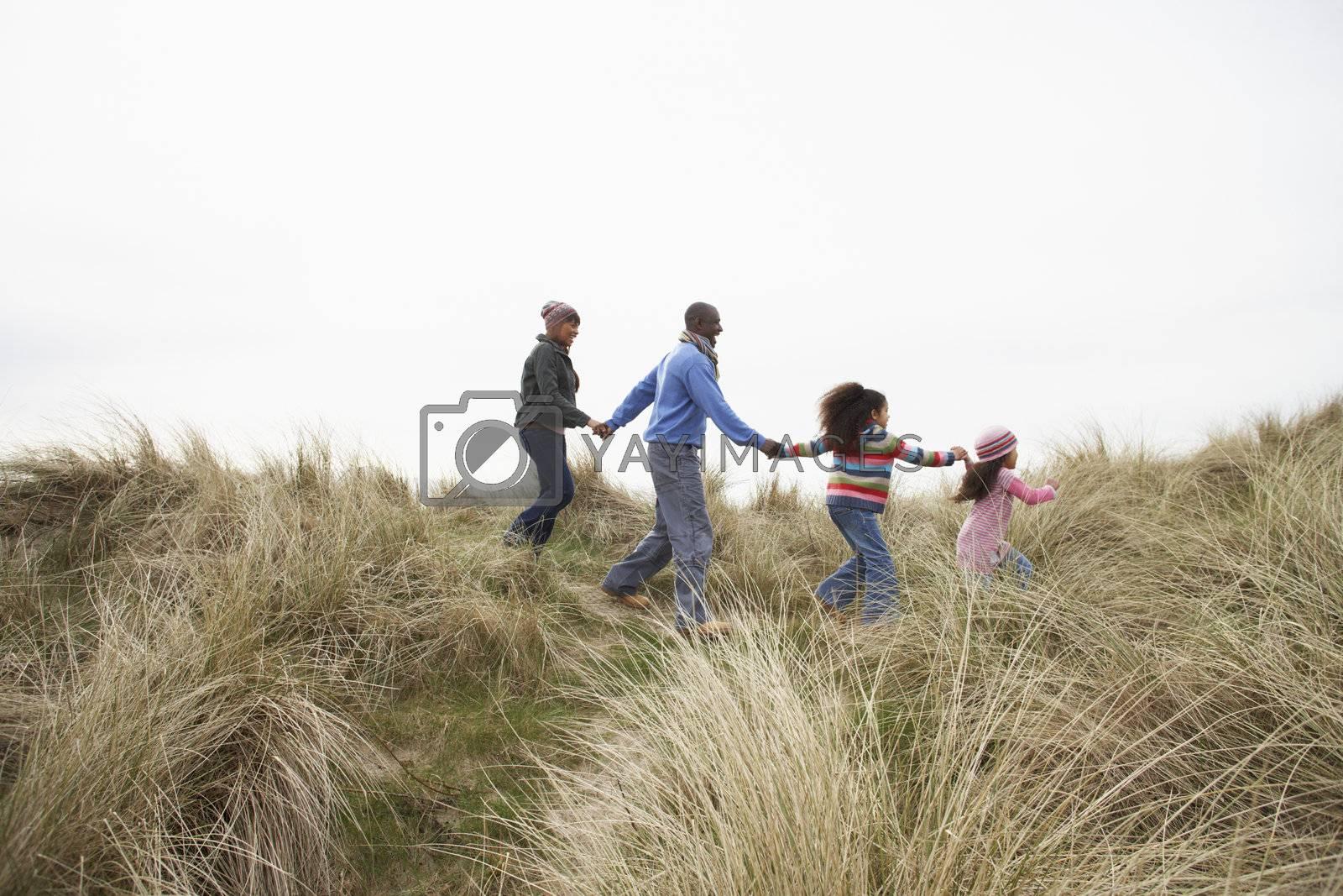 Black Family on a beach