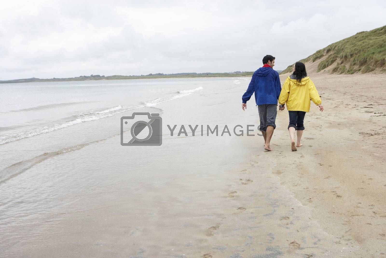 Royalty free image of Couple on beach in love by omg_images