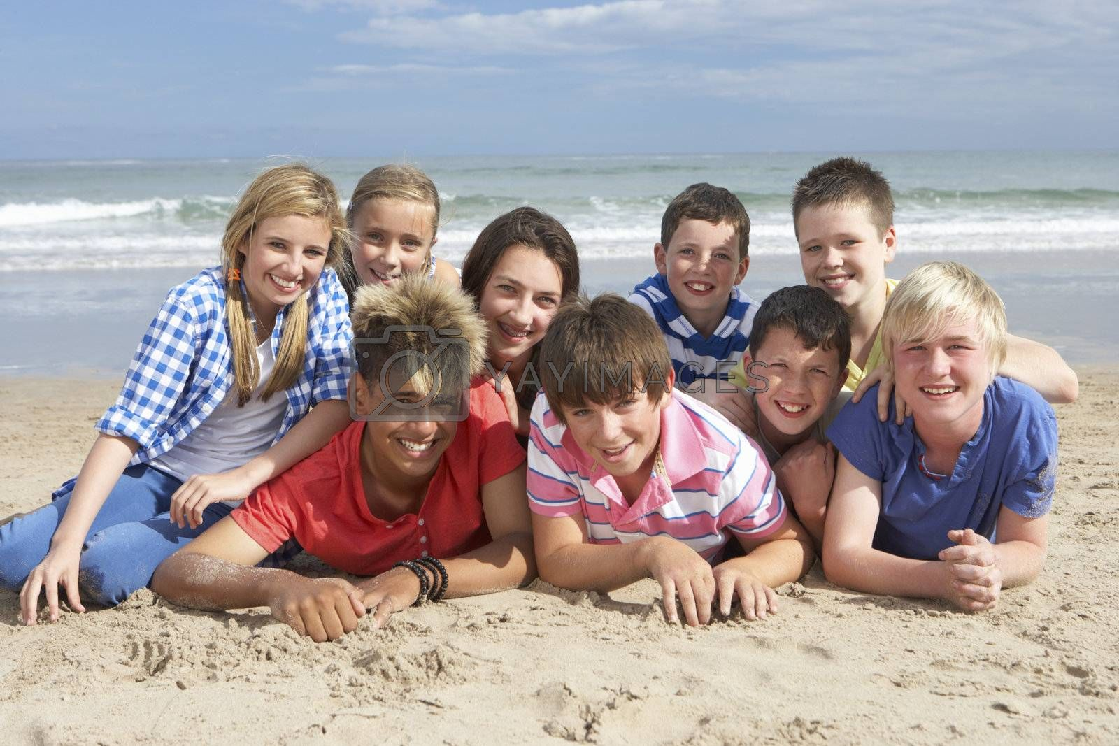 Teenagers together