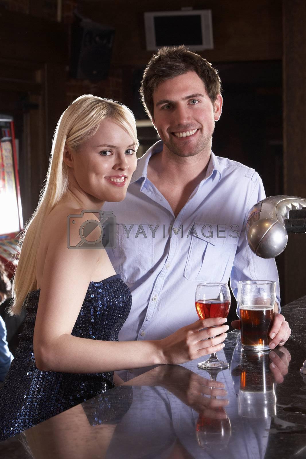 Young couple at bar