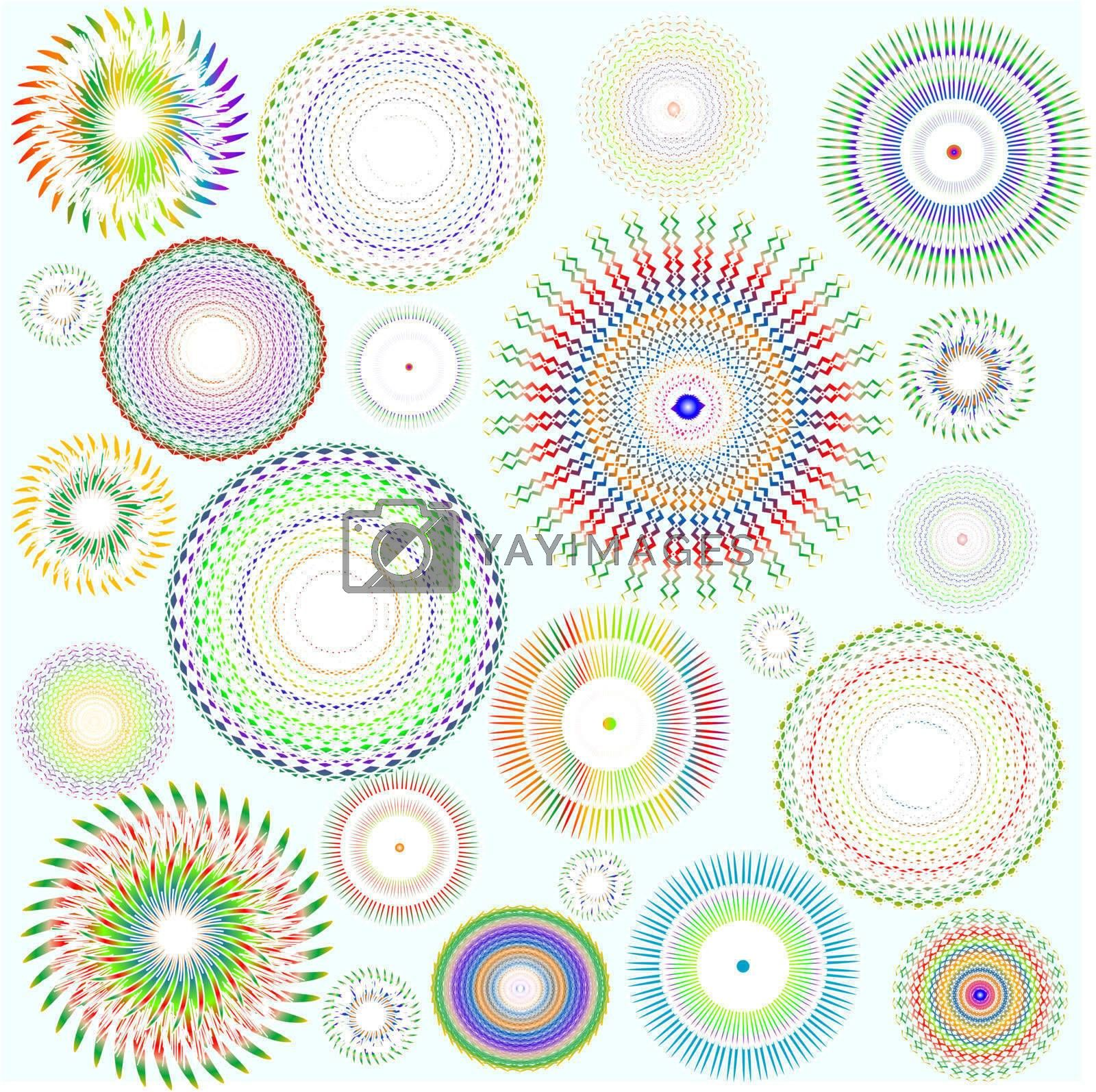 abstract vector background with beatiful floral design element