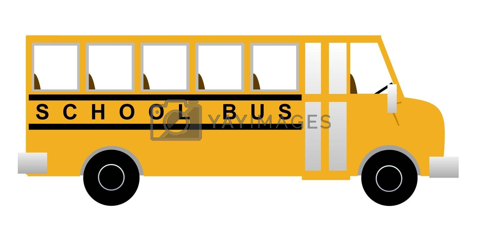 Illustration of a school bus from the side