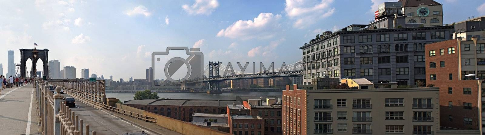 NYC Bridges Panorama by graficallyminded
