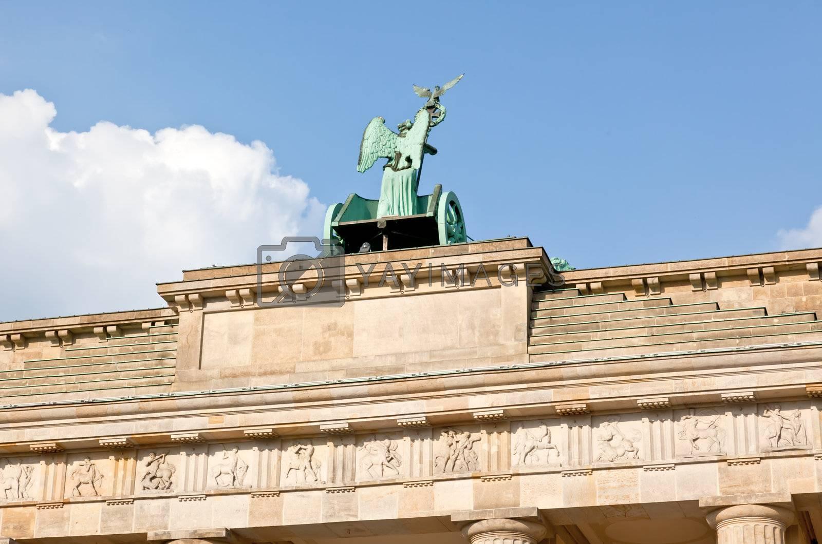 The BRANDENBURG GATE in Berlin Germany