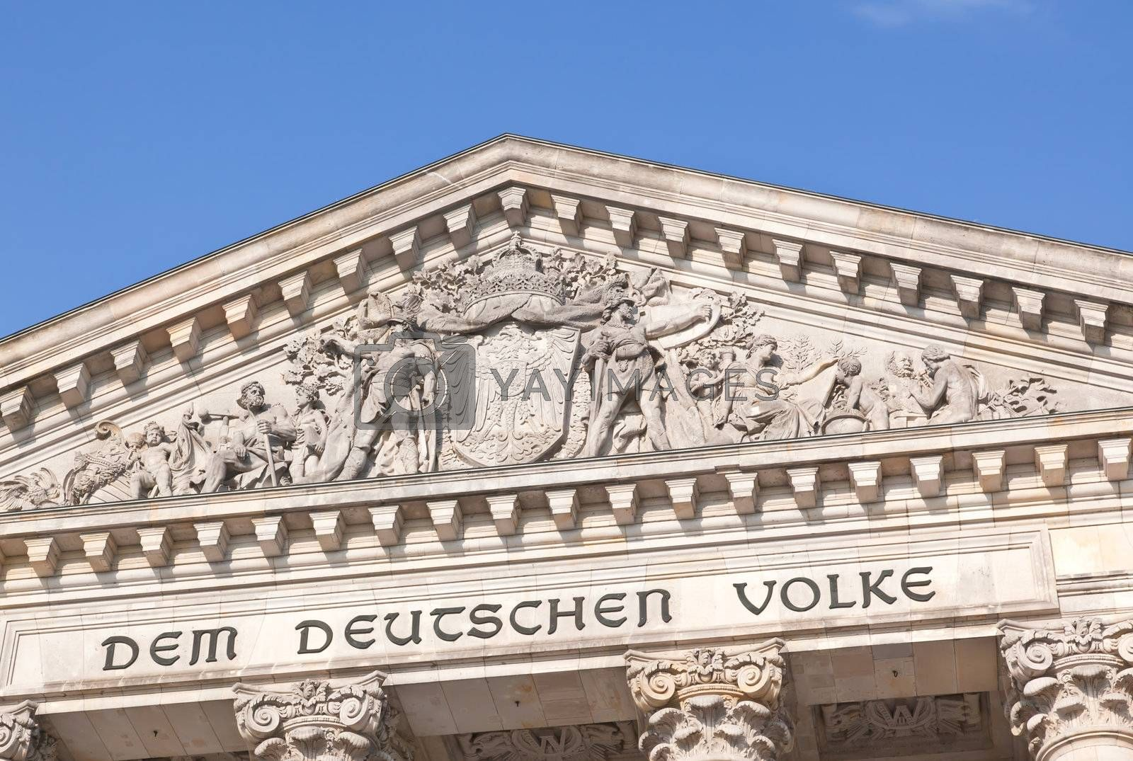 The Reichstag building in Berlin City Germany