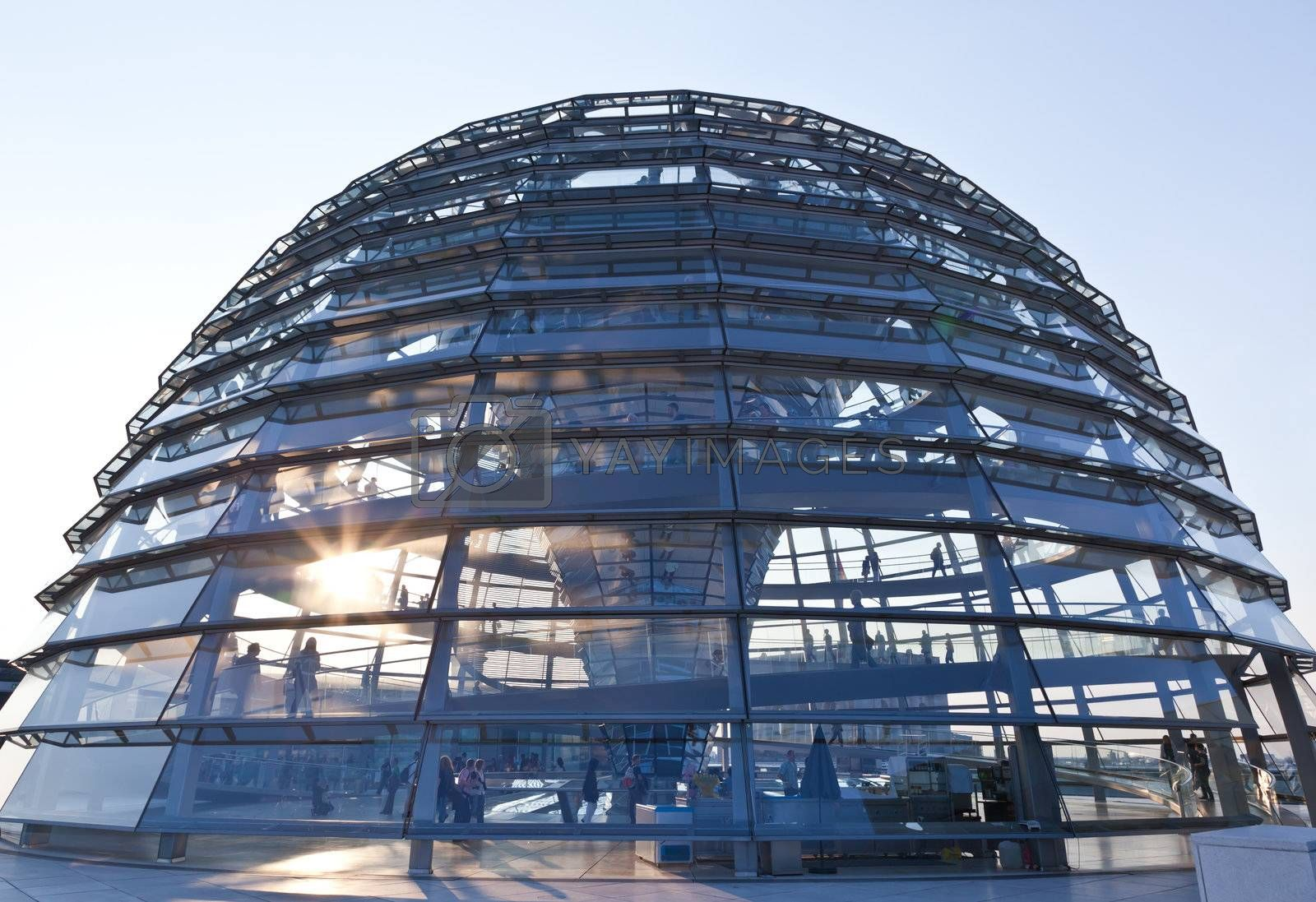 The Cupola on top of the Reichstag building in Berlin