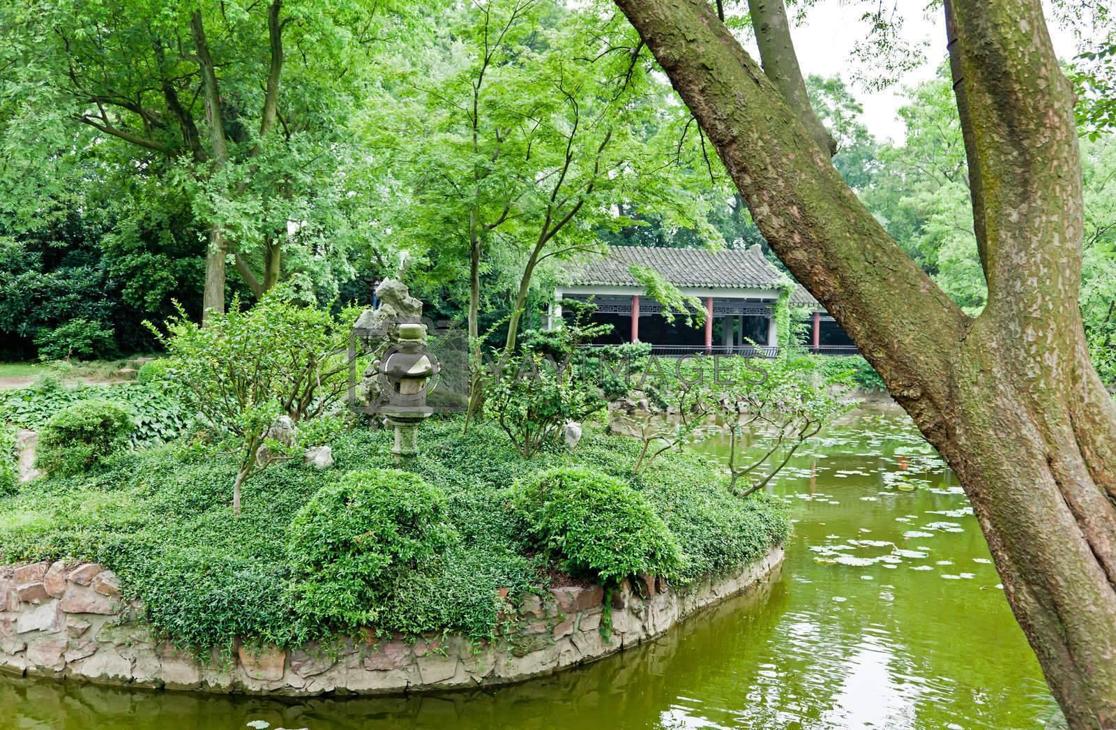 yuan-tou-chu dai lake park in Wuxi city China