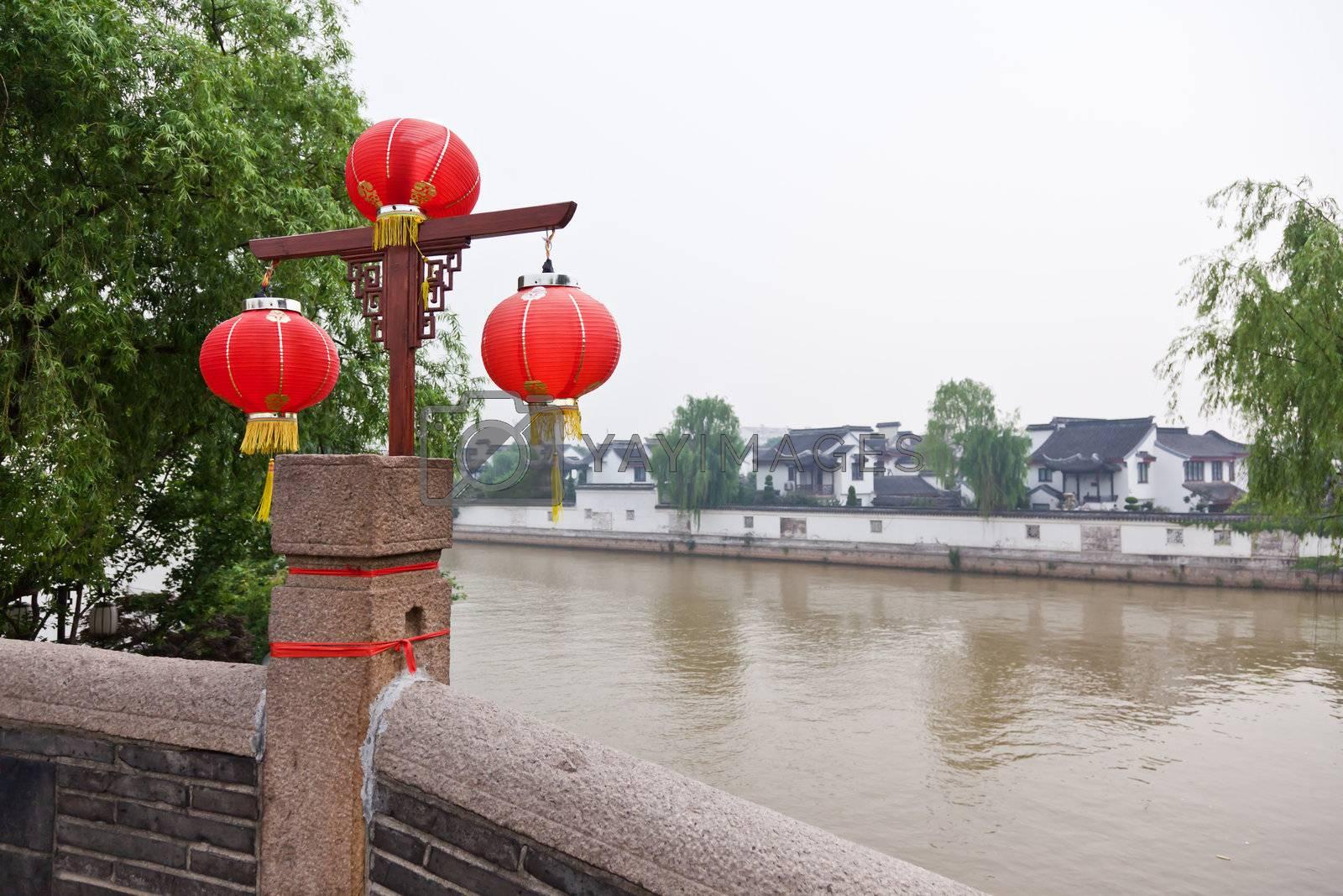 famous feng-qiao scenery area in water town Suzhou China