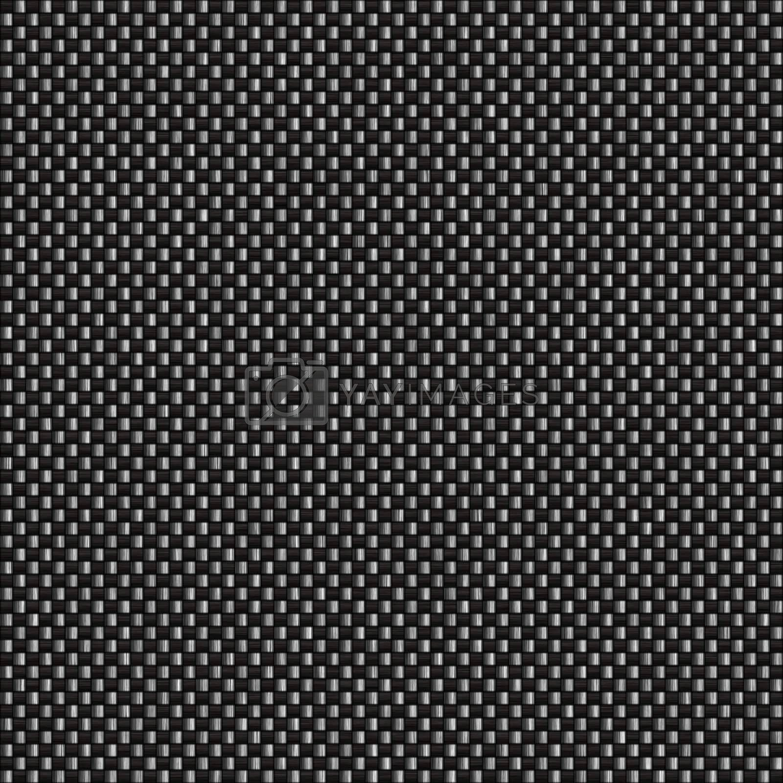 Black woven carbon fiber material that works great as a pattern.  This texture tiles seamlessly in any direction.