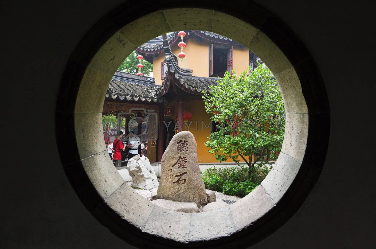 Han-Shan-Si Temple famous in the bell sound in Suzhou city China