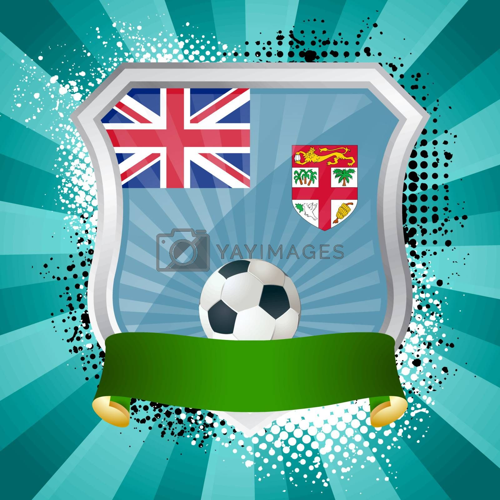 Royalty free image of Shield with flag of Fiji by Petrov_Vladimir