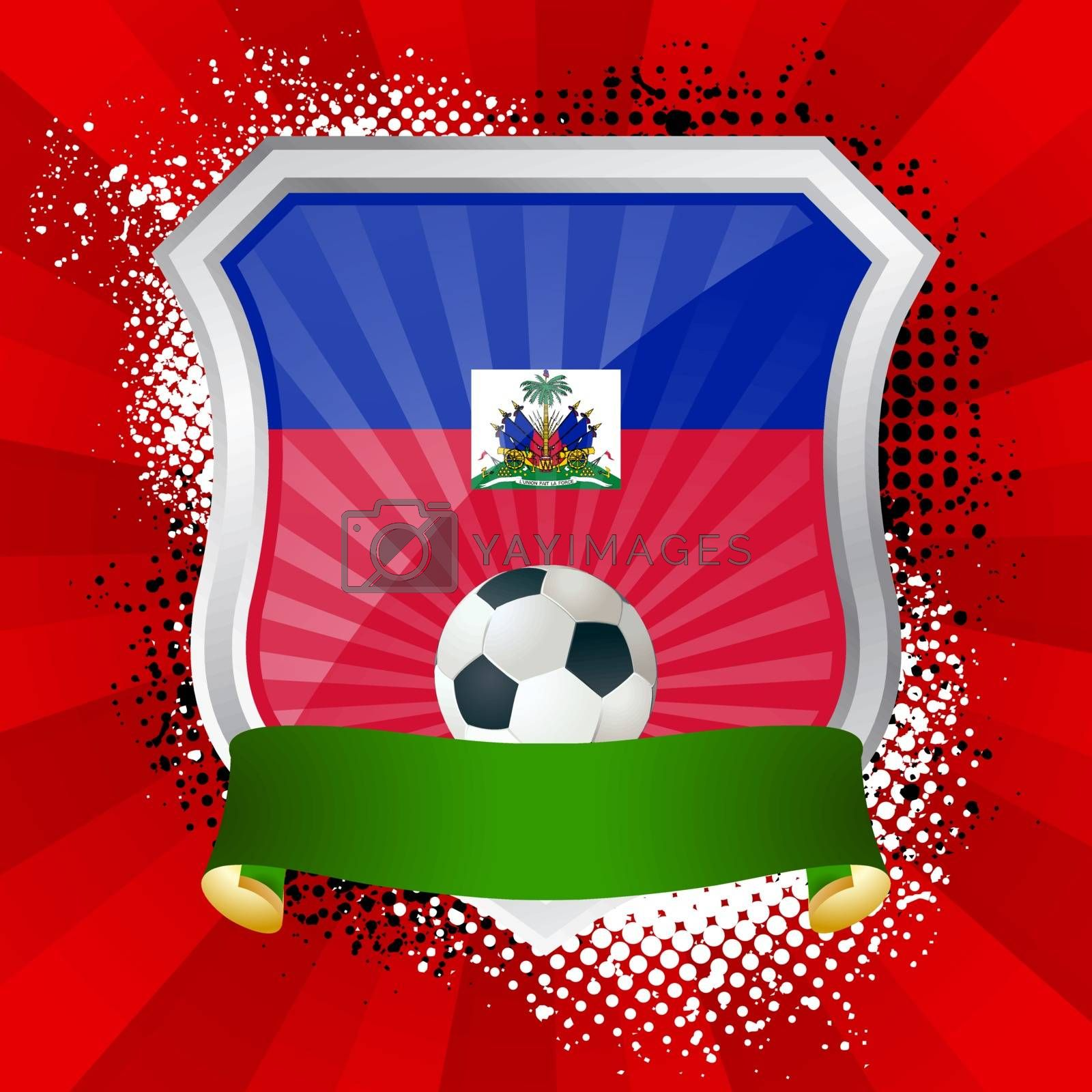 Royalty free image of Shield with flag of  Haiti by Petrov_Vladimir