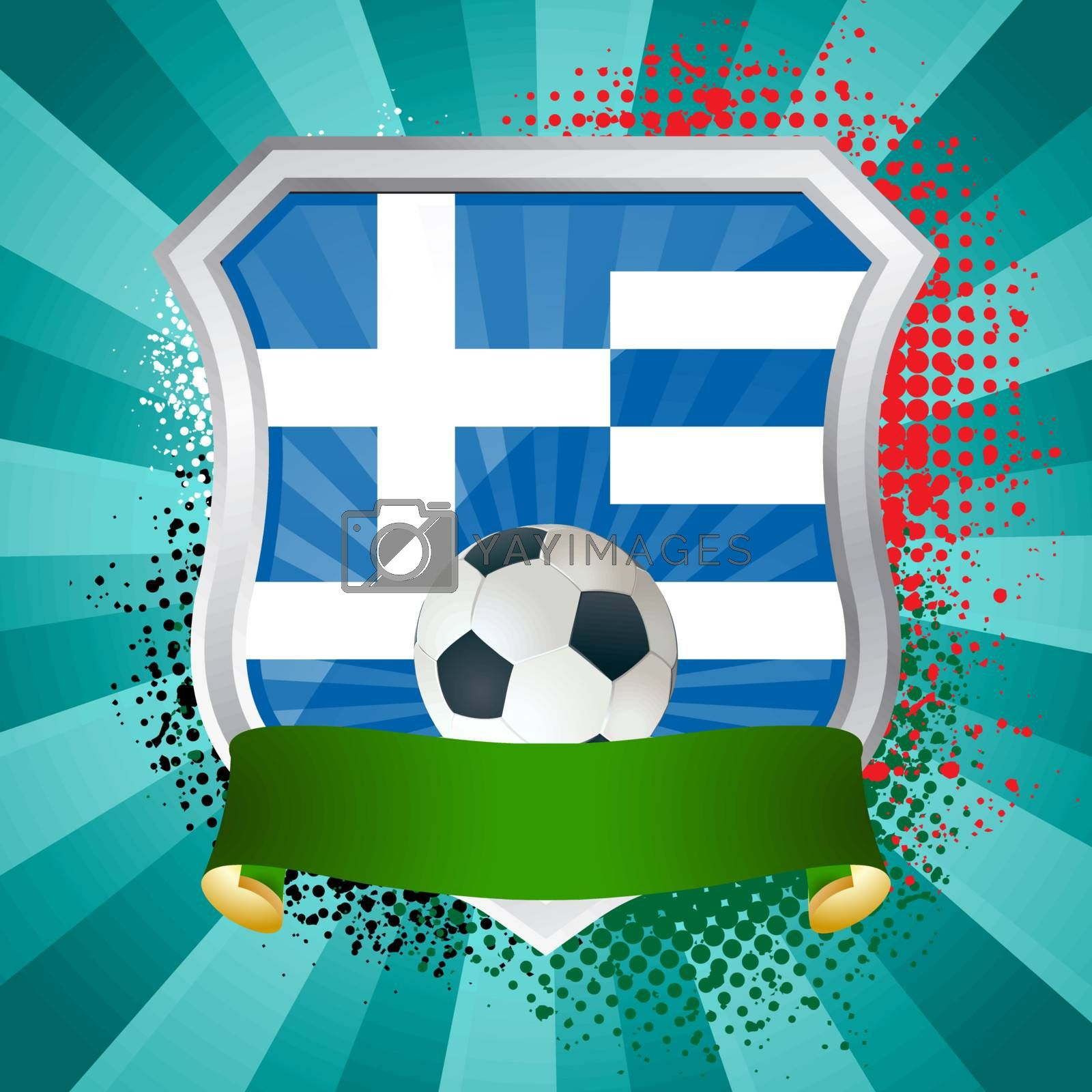 Royalty free image of Shield with flag of Greece by Petrov_Vladimir