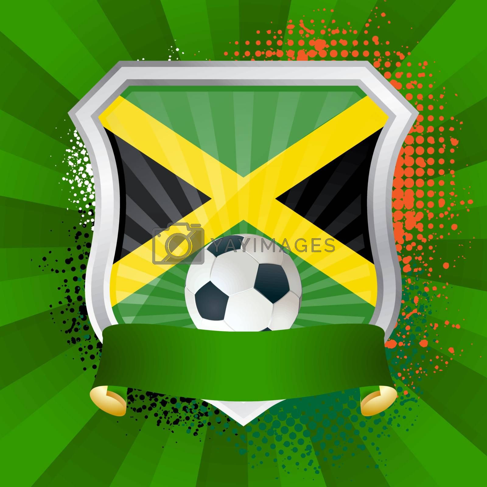 Royalty free image of Shield with flag of Jamaica by Petrov_Vladimir