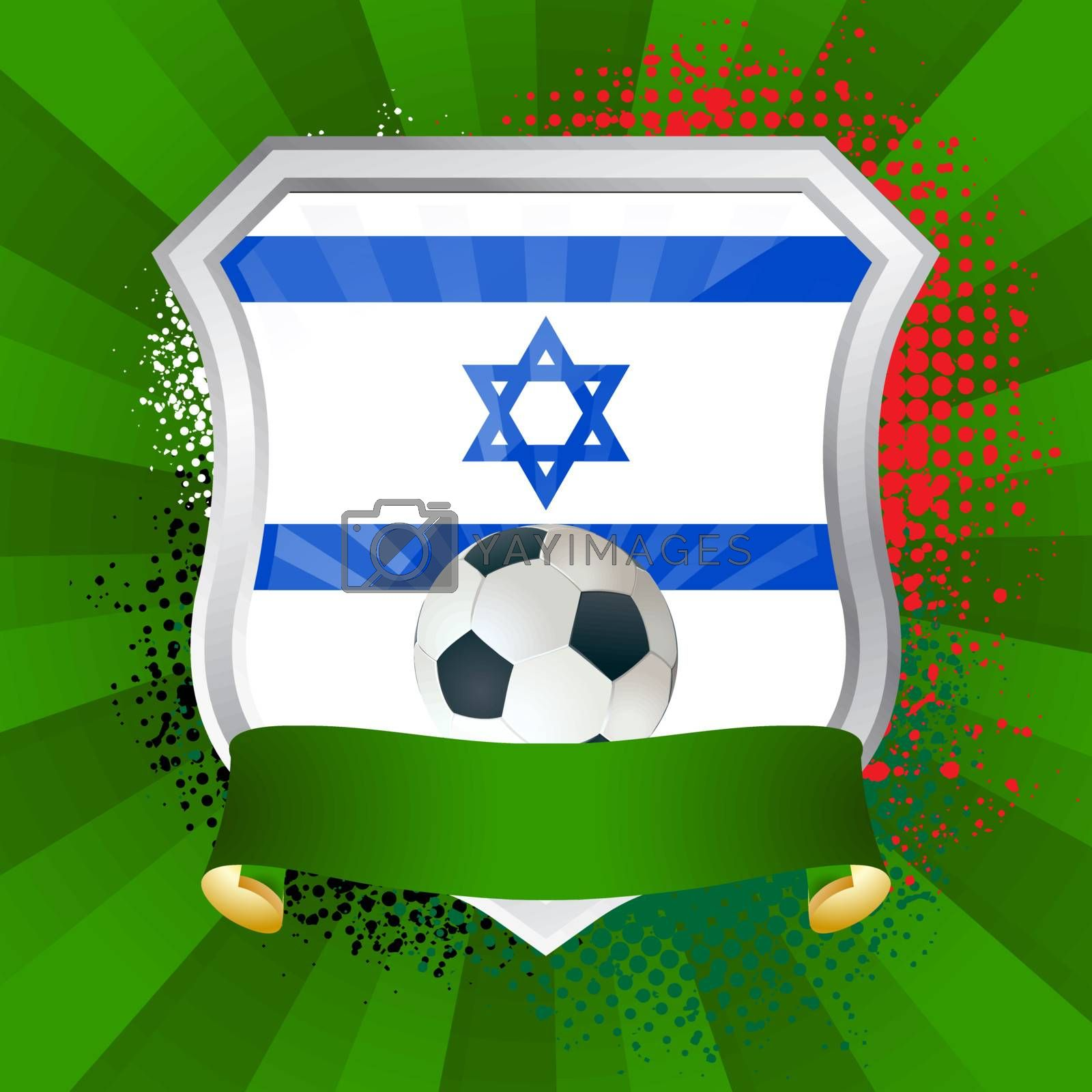 Royalty free image of Shield with flag of  Israel by Petrov_Vladimir