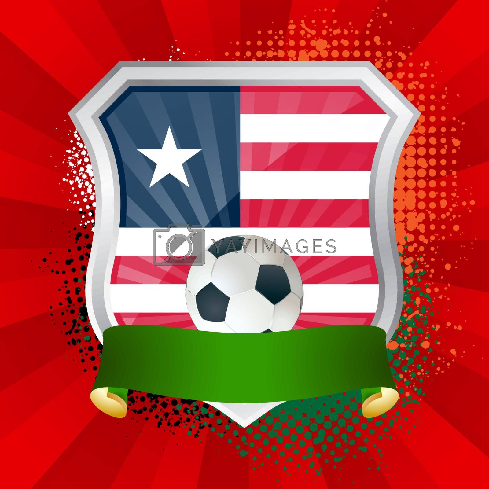 Royalty free image of Shield with flag of  Liberia by Petrov_Vladimir