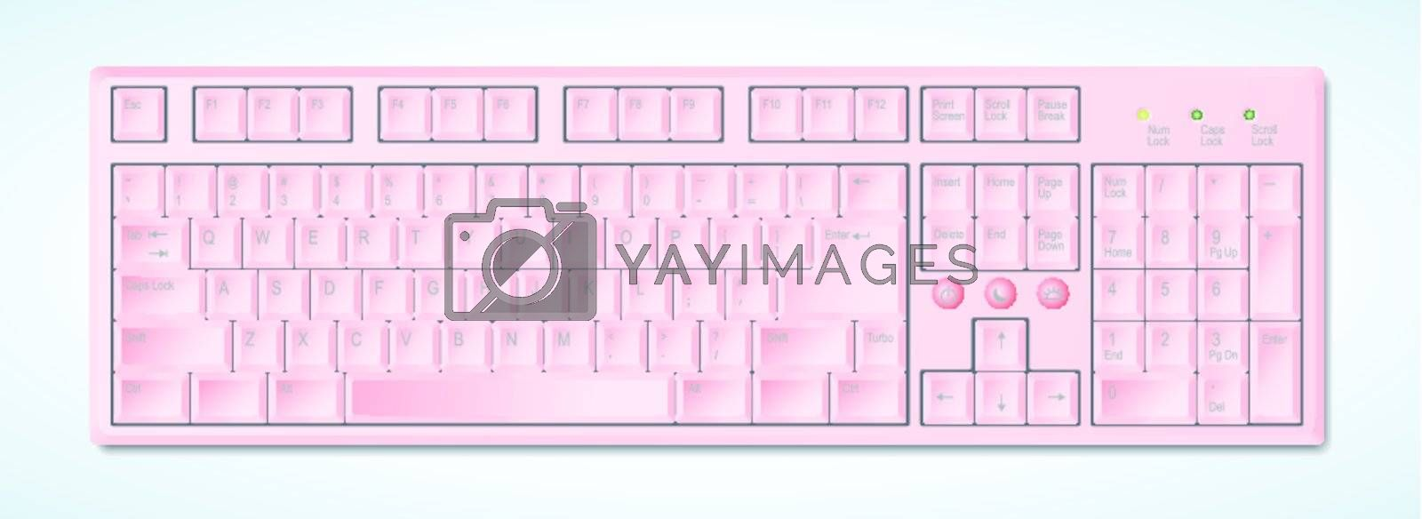 Two different kinds of desktop keyboards in layered vector