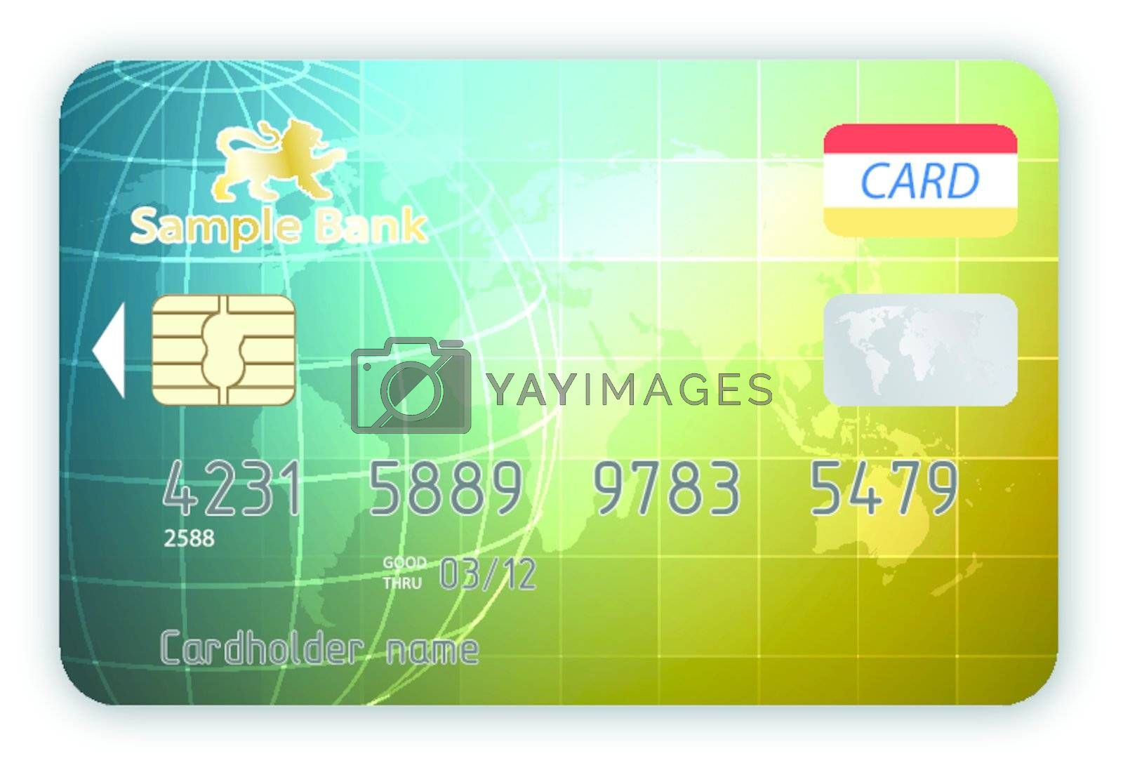 Vector credit cards, front and back view. EPS 10 vector file included
