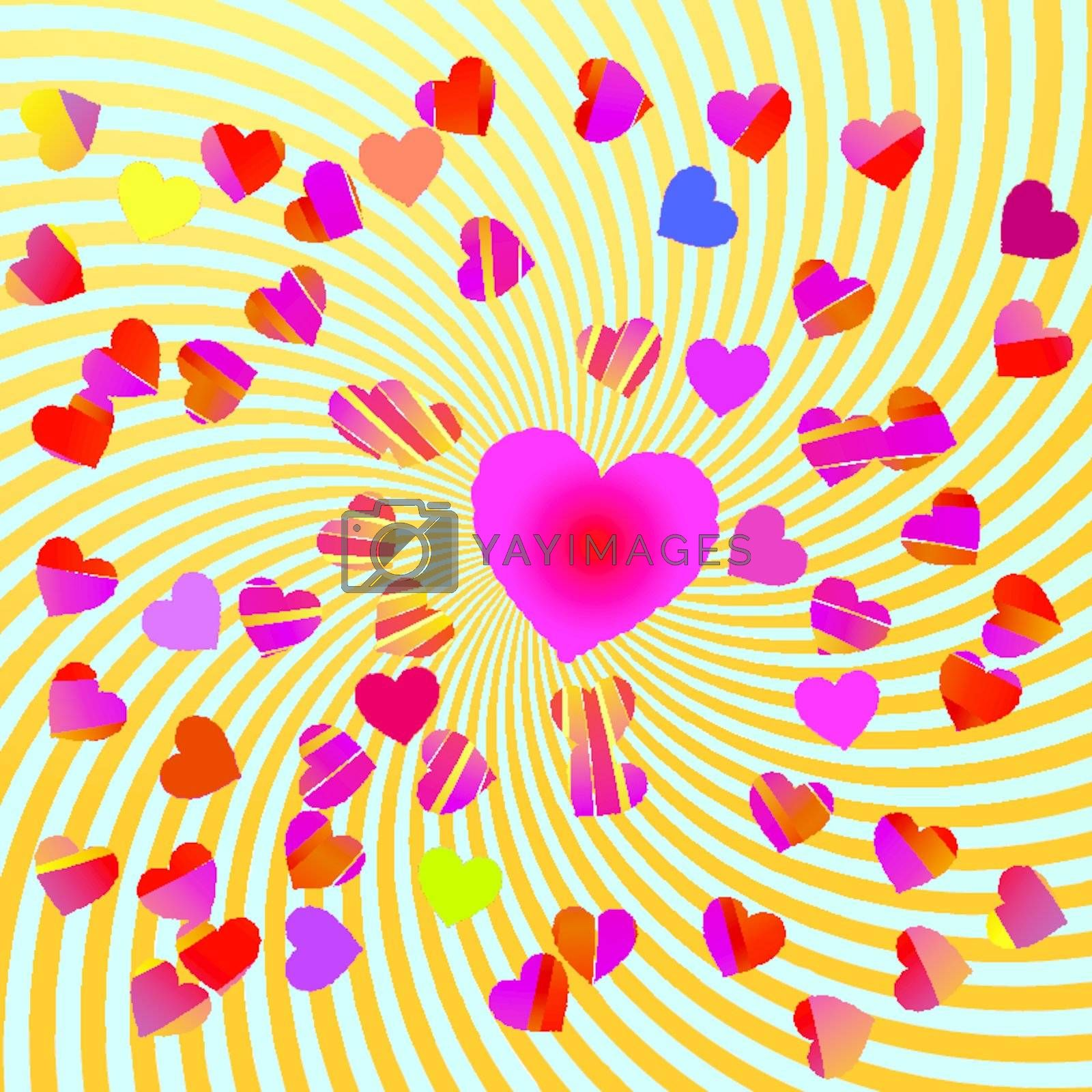 Abstract background with hearts EPS 10 vector file included