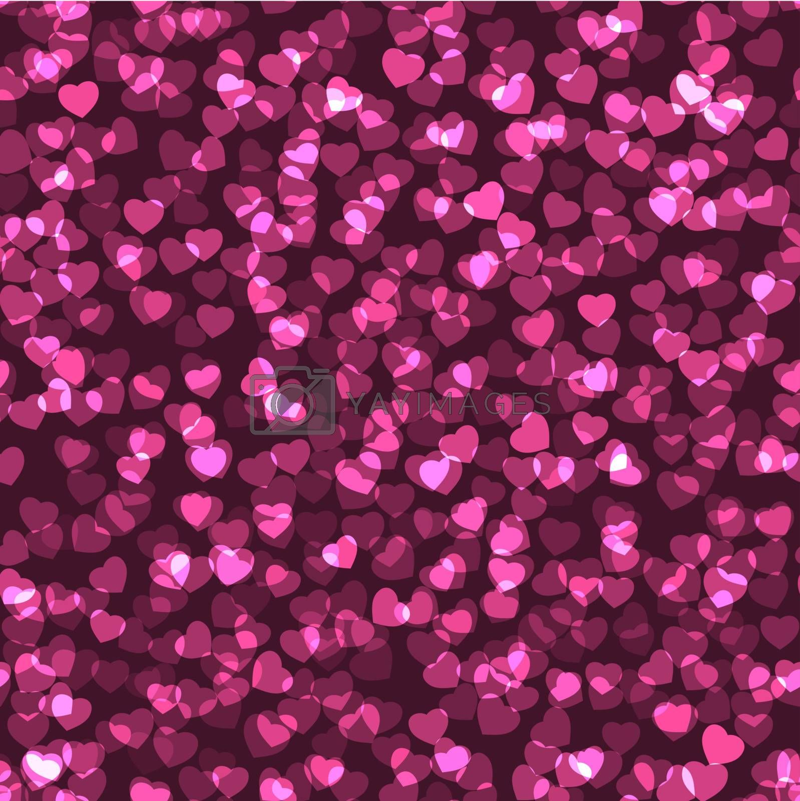 Vector seamless heart texture EPS 10 vector file included