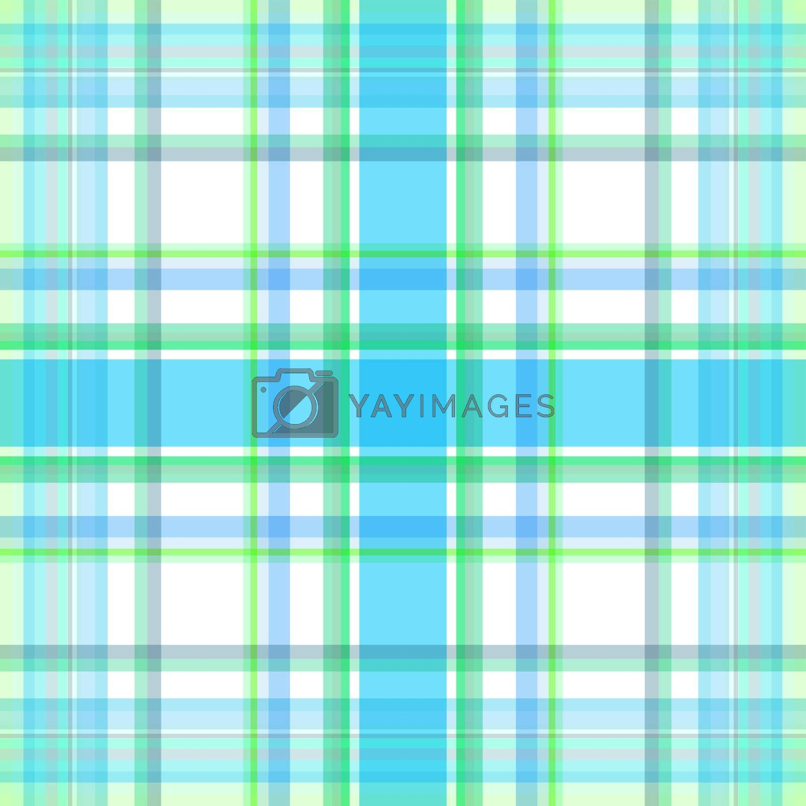 Repeating white-green-blue checkered diagonal pattern (vector, EPS 10)