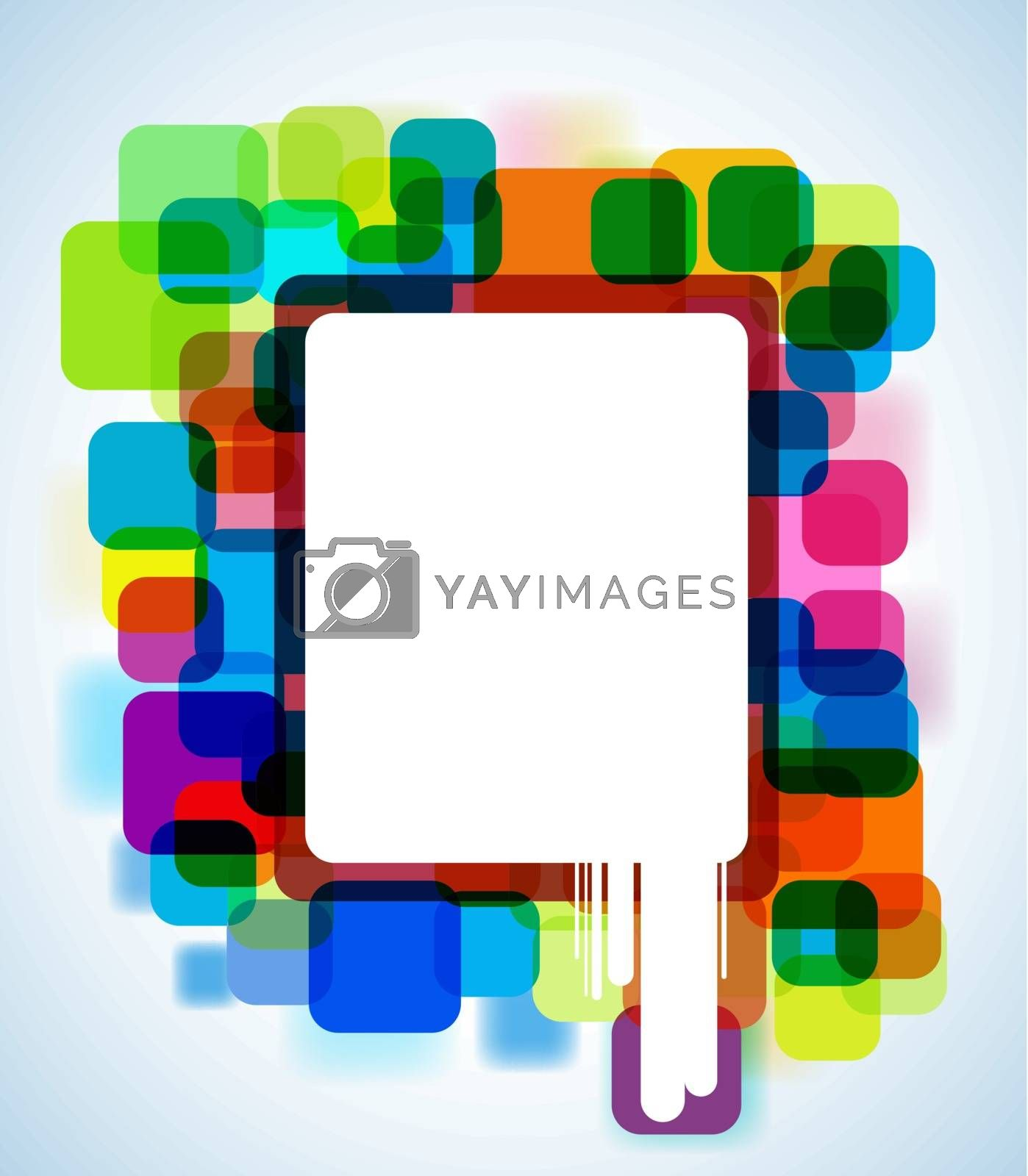 abstract glowing background with copyspace EPS 10 vector file included