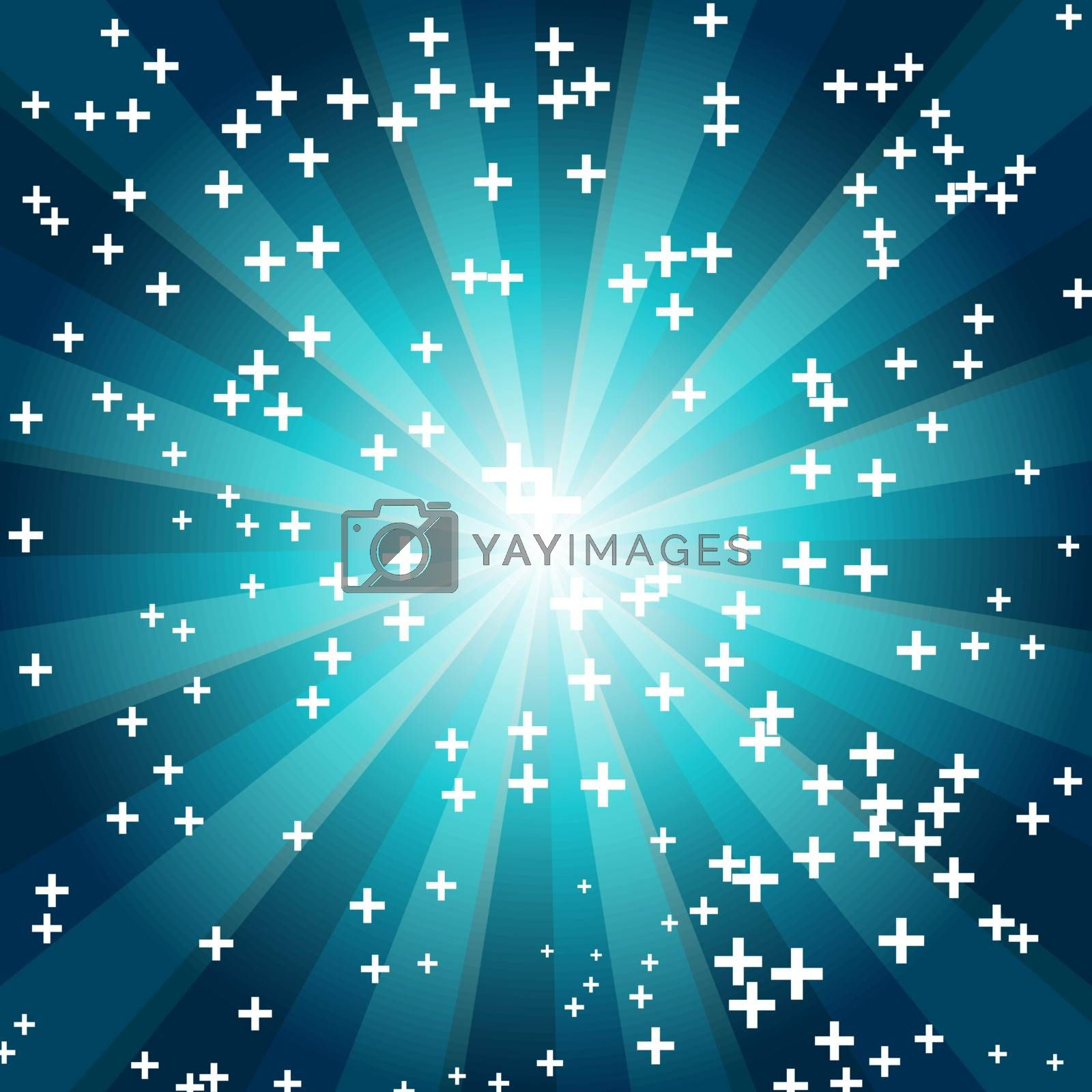 cross on blue background EPS 10 vector file included