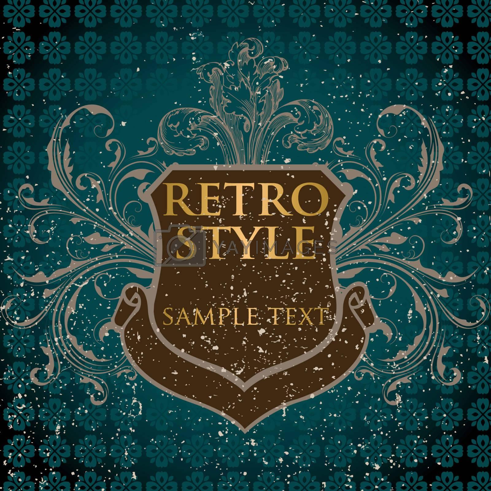 Retro shield label EPS 10 vector file included