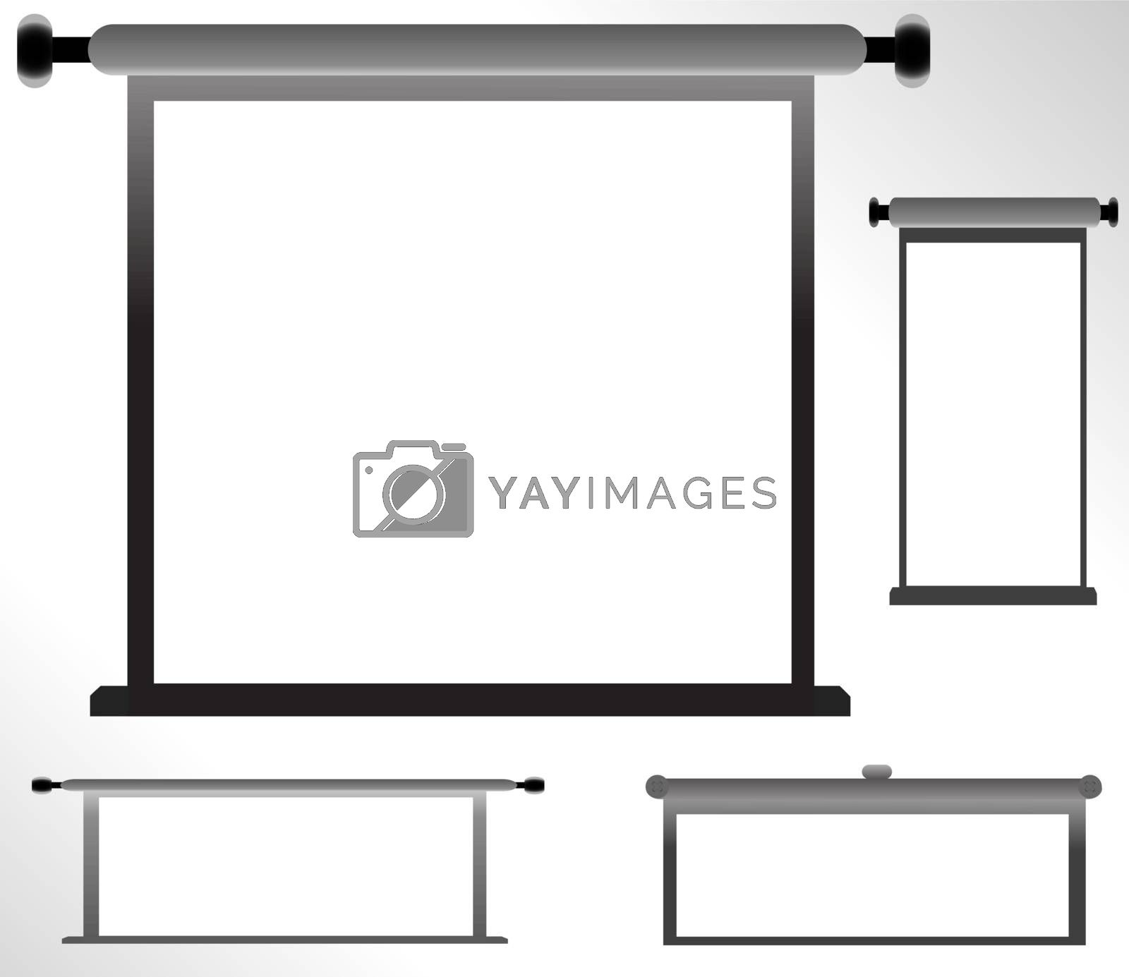 Set of blank, realistic vector advertising constructions